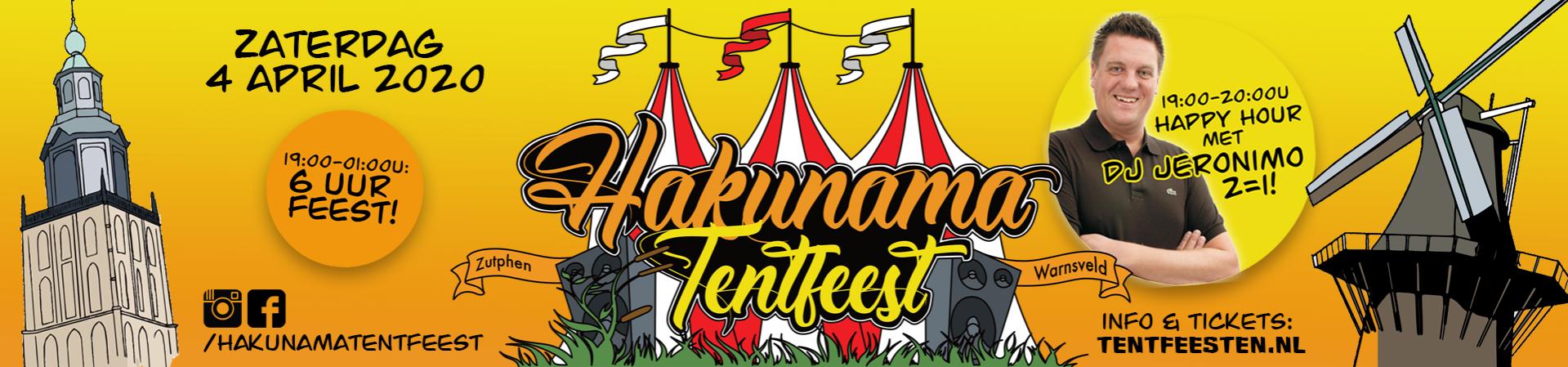 Ticketverkoop Hakunama Tentfeest 2020